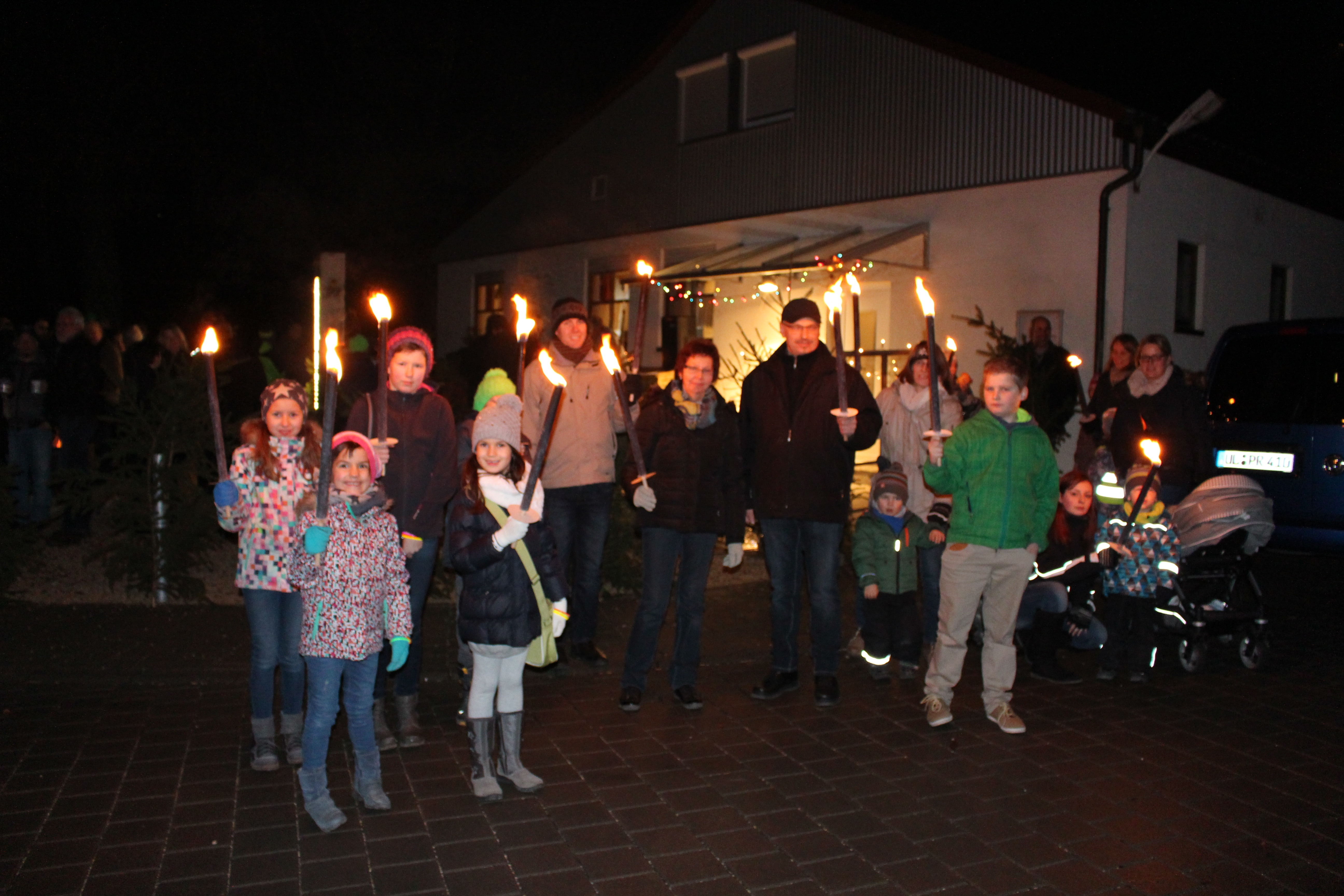offenes Adventsfenster